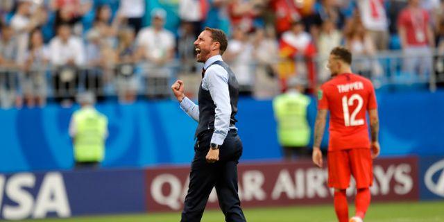 Gareth Southgate under fotbolls-VM.  Matthias Schrader / TT NYHETSBYRÅN/ NTB Scanpix