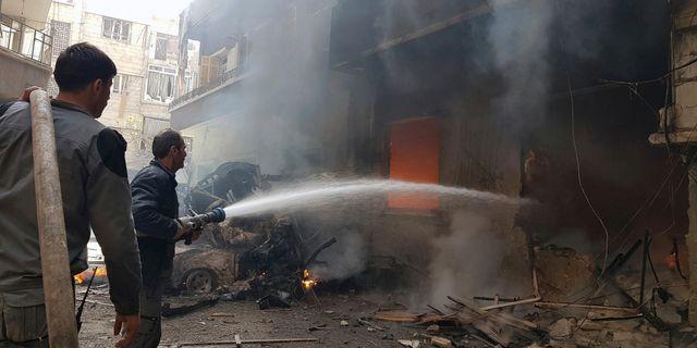 Bild från Douma, östra Ghouta, på tisdagen. TT / NTB Scanpix