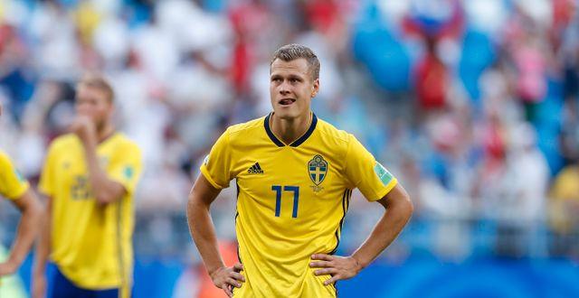 Viktor Claesson under VM i Ryssland. Alastair Grant / TT / NTB Scanpix