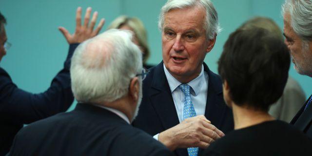 EU:s chefsförhandlare Michel Barnier. Francisco Seco / TT NYHETSBYRÅN