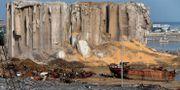 Räddningsarbetare söker efter överlevande vid platsen för explosionen i Beirut Bilal Hussein / TT NYHETSBYRÅN