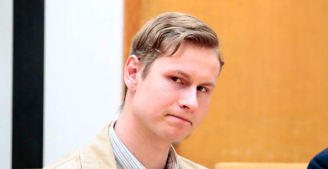Philip Manshaus under en omhäktningsförhandling i mars. Håkon Mosvold Larsen / TT NYHETSBYRÅN