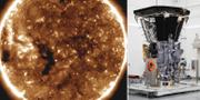 En bild på solen som sonden tagit/Sonden inför avfärd. TT