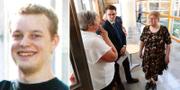 En gammal bild på Daniel Nyqvist/åklagaren Britt-Louise Viklund under dagens häktningsförhandlingar. TT