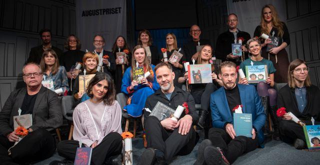 Årets nominerade till Augustpriset. Fredrik Sandberg/TT / TT NYHETSBYRÅN