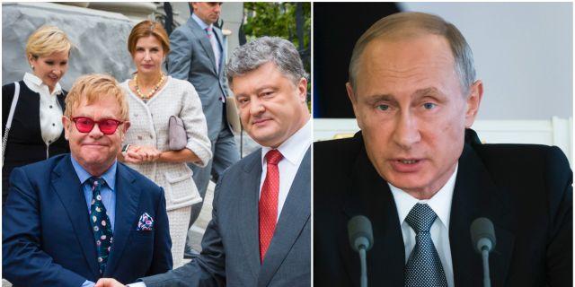 Elton John har varit i Ukraina för att diskutera hbtq-frågor och vill även få ett möte med Vladimir Putin. TT