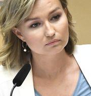 Ebba Busch Thor under dagens debatt.  Claudio Bresciani/TT / TT NYHETSBYRÅN