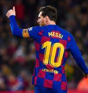 Messi i Barcelonatröjan. PRESSINPHOTO / BILDBYRÅN