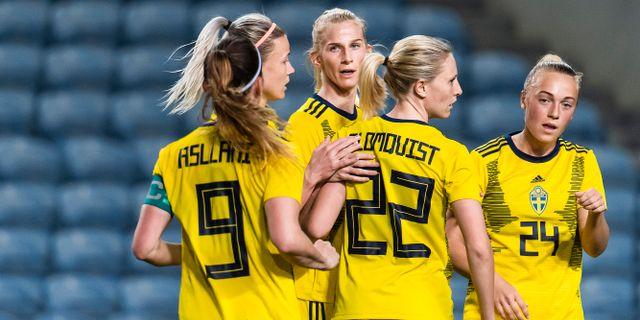 Svenska damlandslaget. LUDVIG THUNMAN / BILDBYRÅN