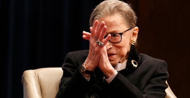 Ruth Bader Ginsburg.  Jacquelyn Martin / TT NYHETSBYRÅN