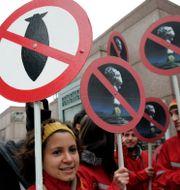 Kärnvapenprotester. Santiago Llanquin / TT NYHETSBYRÅN