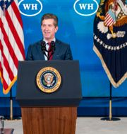 Arkivbild: J&J vd Alex Gorsky blir bara ordförande efter en rockad.  Andrew Harnik / TT NYHETSBYRÅN