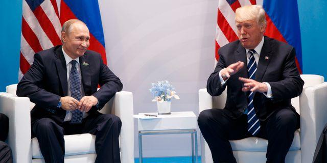 Putin och Trump. Evan Vucci / TT / NTB Scanpix