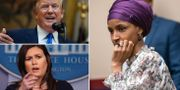 Donald Trump/Sarah Huckabee Sanders/Ilhan Omar. TT