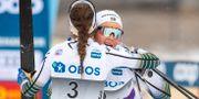 Landslagets Ebba Andersson och Stina Nilsson.  JON OLAV NESVOLD / BILDBYRÅN NORWAY