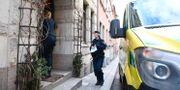 Polisen på plats. Ali Lorestani/TT / TT NYHETSBYRÅN
