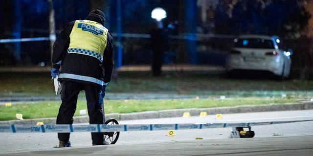 Polisens kriminaltekniker på plats i Malmö  Johan Nilsson/TT / TT NYHETSBYRÅN