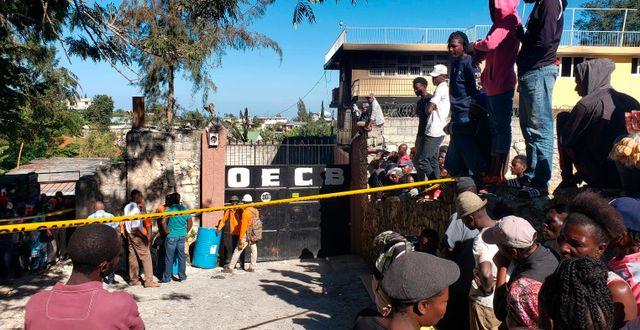 Bild från platsen. Dieu Nalio Chery / TT NYHETSBYRÅN
