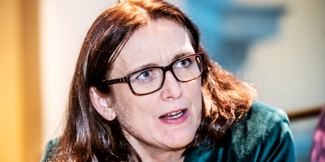 Cecilia Malmström, EU:s handelskommissionär.  Tomas Oneborg/SvD/TT / TT NYHETSBYRÅN