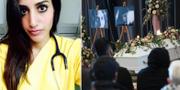 Karolin Hakim/begravningen i Malmö. TT