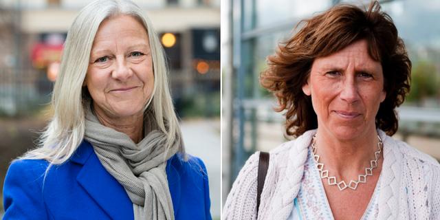 Carina Lundberg Uudelepp och Ann-Sofi Lodin. Pressbild/TT