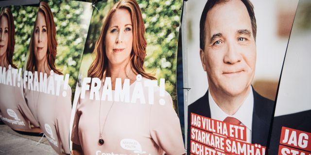 Valaffischer inför riksdagsvalet 2018.  Erik Simander/TT / TT NYHETSBYRÅN