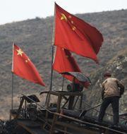 Illustrationsbild. Gruvarbetare i Kina.  GREG BAKER / AFP
