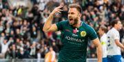 Muamer Tankovic jublar efter 2-2. ANDREAS L ERIKSSON / BILDBYRÅN