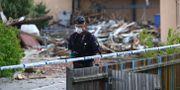 Polis på plats efter explosionen Jeppe Gustafsson/TT / TT NYHETSBYRÅN