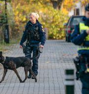 Arkivbild: Polis med hund söker på Idunsgatan i Malmö efter att en 17-årig pojke hittats med stickskador i ett bostadsområde.  Johan Nilsson/TT / TT NYHETSBYRÅN