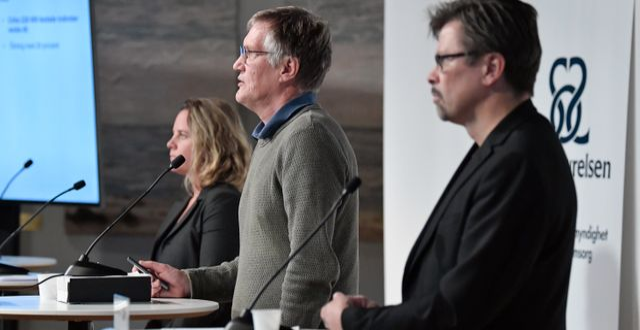 Bild från en av pressträffarna. Janerik Henriksson/TT / TT NYHETSBYRÅN