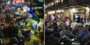 Marknader och kaféer i Egypten. TT