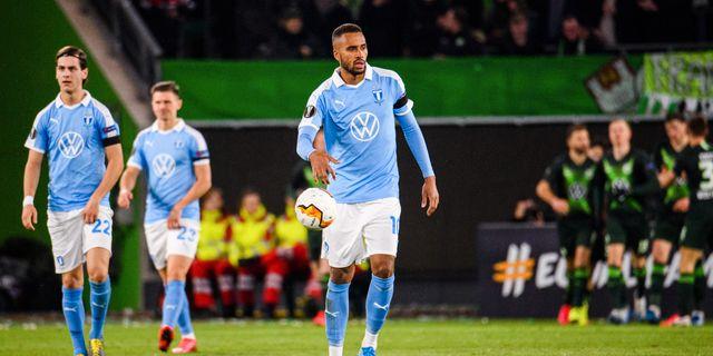 Adi Nalic deppar efter Wolfsburgs ledningsmål. LUDVIG THUNMAN / BILDBYRÅN