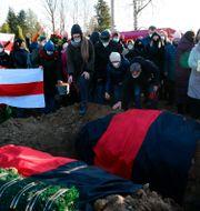 Roman Bondarenkos gravplats i Minsk.  TT NYHETSBYRÅN