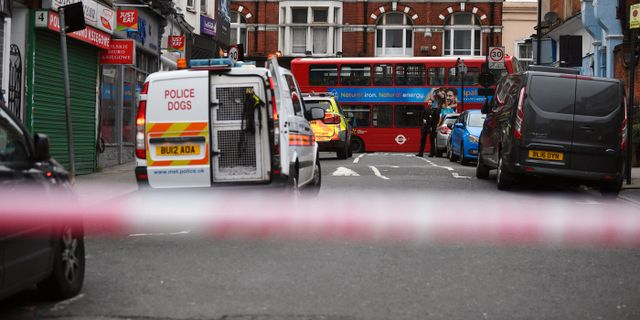 Platsen för attacken i Streatham i London. Victoria Jones / TT NYHETSBYRÅN