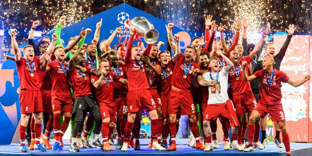 Liverpool lyfter bucklan efter förra årets CL-final. PETTER ARVIDSON / BILDBYRÅN