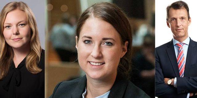 Linda Flink, expert på energi och klimatfrågor på Svenskt Näringsliv, Emma Wiesner, projektledare på Sweco, och Andreas Regnell, chef för strategi på energiföretaget Vattenfall.