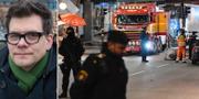 Jonas Trolle/Polis vid Åhléns i Stockholm efter terrorattentatet 2017
