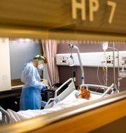 Coronapatient i Bryssel Olivier Matthys / TT NYHETSBYRÅN