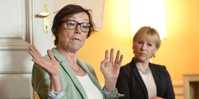 Kabinettssekreteraren Annika Söder och utrikesminister Margot Wallström. Marcus Ericsson/TT / TT NYHETSBYRÅN