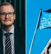 Johan Lundqvist och Cathrine Danin. Pressbilder, TT