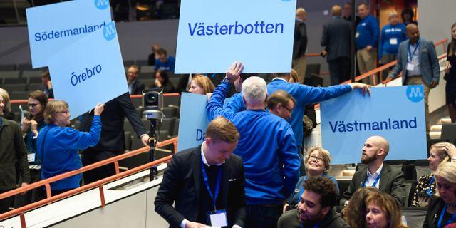 Partistämman i Västerås. Fredrik Sandberg/TT / TT NYHETSBYRÅN