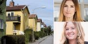 Villaområde i Stockholm, Emma Persson och Claudia Wörmann. TT/Adrian Leopoldson/SBAB