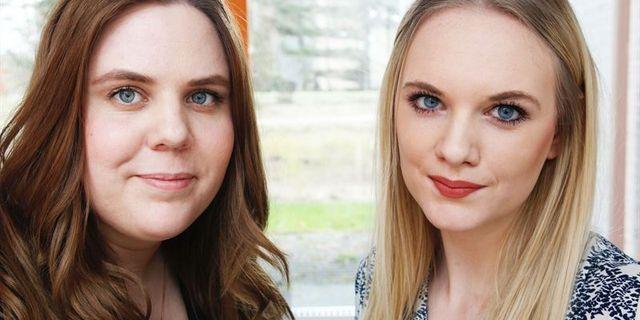 Amanda Karlsson och Linnéa Bohlin som står bakom podden. Pressbild