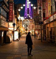 Gatubild från Osaka.  Hiro Komae / TT NYHETSBYRÅN
