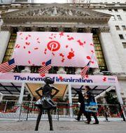 Pinterest noterades på Wall Street i april förra året. Richard Drew / TT NYHETSBYRÅN