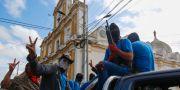 Paramilitära grupper som stödjer regimen. Alfredo Zuniga / TT / NTB Scanpix