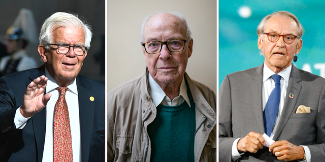 Alf Svensson, Hans Blix och Jan Eliasson.  TT