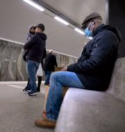 Resenärer i kollektivtrafiken i Stockholm. Janerik Henriksson/TT / TT NYHETSBYRÅN
