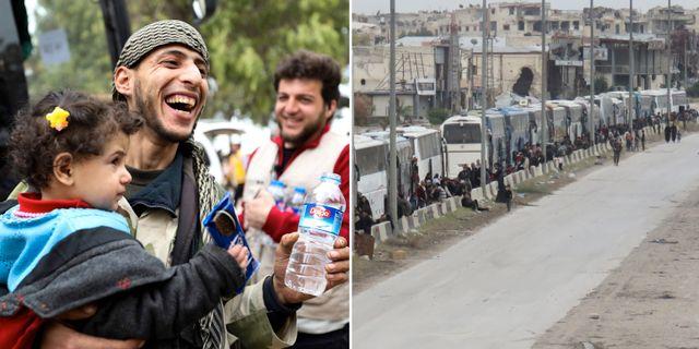 Civila och rebeller har evakuerats från östra Ghouta.  TT